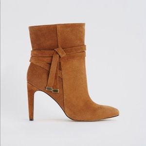 Ann Taylor suede Wrap around booties 7.5